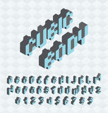 Kubikstilsort, stort färgrikt stå för bokstäver, Royaltyfri Bild