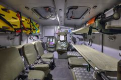 Protected ambulance stock photography