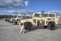 Mine protected armoured stock image