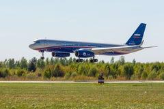 Kubinka Moskvaregion, Ryssland - 05/12/2018: Rysk Tupolev för luftbevakningflygplan Tu-214ON arkivbilder