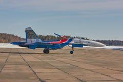 KUBINKA MOSKVAREGION, RYSSLAND Sukhoi Su-30 arkivbilder