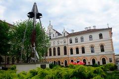 Kubinyi广场, Lucenec,斯洛伐克 库存图片
