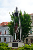 Kubinyi广场, Lucenec,斯洛伐克 库存照片