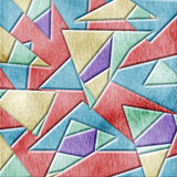 Kubismträbakgrund Arkivfoto