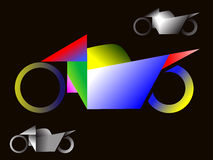 Kubismusmotorraddesign Lizenzfreies Stockfoto