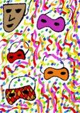 Kubistische maskers Royalty-vrije Stock Fotografie