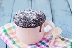 Kubka czekoladowy tort zdjęcie royalty free