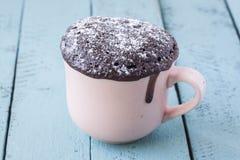 Kubka czekoladowy tort zdjęcie stock