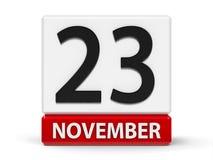 Kubkalender 23rd November vektor illustrationer