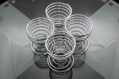 kubki jaj 4 spirali Zdjęcia Royalty Free