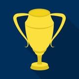 kubki srebra Nagradza zwycięzcy rywalizacja dla drugi miejsca Nagrody i trofea przerzedżą ikonę w mieszkanie stylu wektorze ilustracji