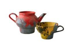 kubki teapot kolorowych Obrazy Royalty Free