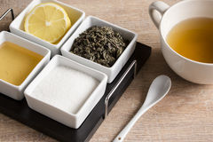 kubki zielonej herbaty Obraz Royalty Free