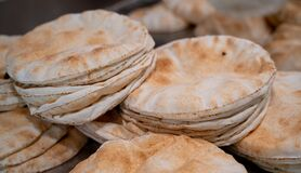 Free Kuboos Or Khubz - Fresh Pita Bread Togeather In A Table Royalty Free Stock Photo - 178180945