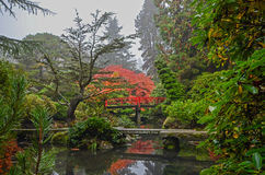 Kubota Garden Heart Bridge Royalty Free Stock Images