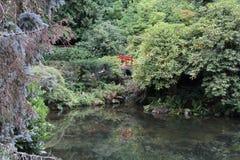 Kubota Garden Bridge and Pond royalty free stock images