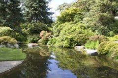 Kubota japanträdgård arkivfoto