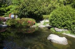 Kubota japanträdgård, Seattle, Maj Arkivbilder