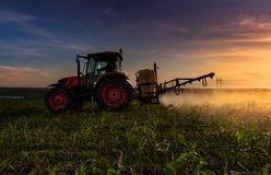 Kubota traktor i fält arkivfoton
