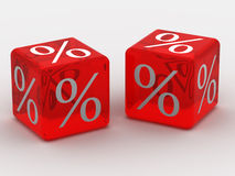 Kubus met percenten Royalty-vrije Stock Fotografie