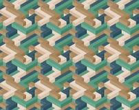 Kubus naadloos patroon Stock Afbeelding