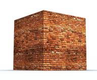 Kubus van baksteen de geometrische vormen Stock Foto's