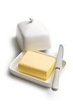 Kubus van boter royalty-vrije stock afbeeldingen