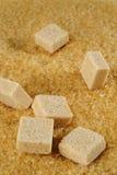 Kubus van bruine suiker Royalty-vrije Stock Foto
