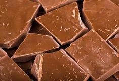 Kubus van chocolade Stock Afbeeldingen