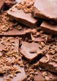Kubus van chocolade Stock Afbeelding