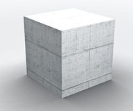 Kubus van Concret de geometrische vormen Royalty-vrije Stock Foto