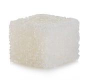 Kubus van suiker op wit wordt geïsoleerd dat stock foto's