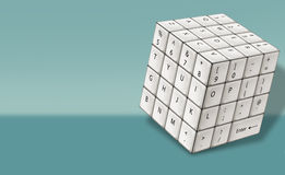 Kubus Wit Toetsenbord vector illustratie