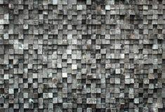 Kubus zwart hout royalty-vrije stock foto's