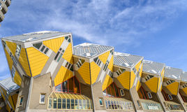 Kubushuizen door Piet Blom worden ontworpen dat Stock Foto's