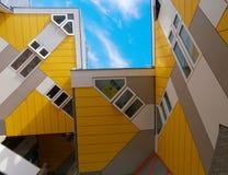 Kubushuizen in Rotterdam Royalty-vrije Stock Foto's