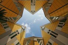 Kubushuizen van Rotterdam - Holland Stock Fotografie