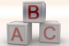 Kubussen ABC Royalty-vrije Stock Afbeeldingen