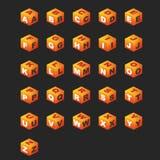 Kubussen ABC (oranje kleur). Royalty-vrije Stock Afbeelding