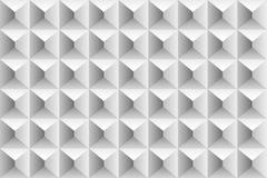Kubussen en driehoeken grijs volumepatroon Royalty-vrije Stock Foto