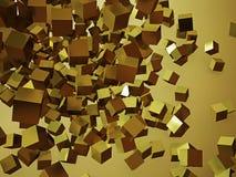 Kubussen het abstracte kleurrijke 3d teruggeven Stock Foto
