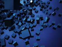 Kubussen het abstracte kleurrijke 3d teruggeven Royalty-vrije Stock Afbeelding