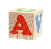 Kubussen met brieven Stock Foto
