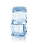 Kubussen van blauw ijs Stock Fotografie