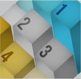 Kubussen van de bedrijfs 3d informatiegrafiek Stock Afbeelding