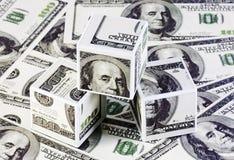 Kubussen van dollars Royalty-vrije Stock Foto