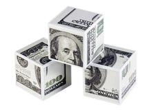 Kubussen van dollars Stock Fotografie
