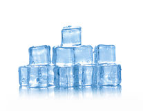 Kubussen van ijs Stock Foto's