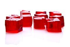 Kubussen van rode gelei Stock Foto