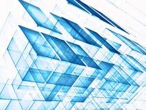 Kubussenachtergrond - abstract digitaal geproduceerd beeld Stock Foto